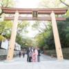大阪 七五三 出張撮影 鳥居前で記念撮影