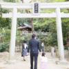 大阪 お宮参り 格安 出張撮影 鳥居 枚岡神社
